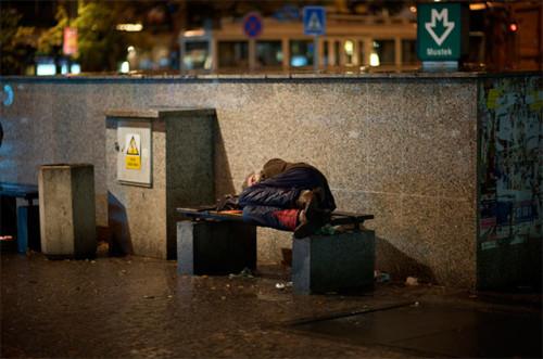 Homeless in the rain